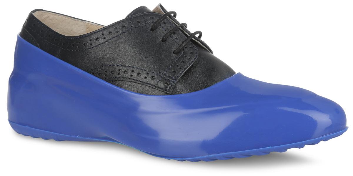 ГалошиWBL 21Стильные женские галоши предназначены для защиты обуви без каблука. Модель выполнена из силикона с добавлением резины. Галоши легко надеваются на обувь и принимают ее форму. Они защищают обувь от влаги, грязи, снега, соли и песка. Также галоши оберегают заднюю часть обуви от повреждения при нажатии на педали автомобиля. Галоши легко моются и быстро сохнут. Рифление на подошве обеспечивает отличное сцепление с любой поверхностью. Модные галоши не только защитят вашу обувь, они помогут изменить ее внешний вид, сделав его более эффектным.