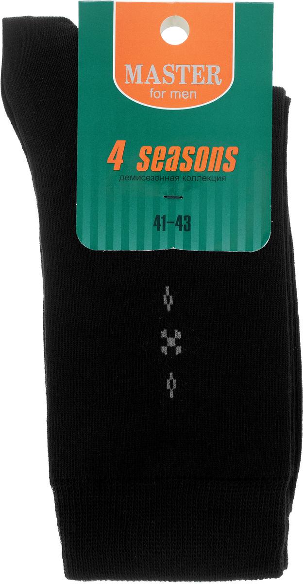 Носки58013_01Удобные носки Master Socks, изготовленные из высококачественного комбинированного материала, очень мягкие и приятные на ощупь, позволяют коже дышать. Эластичная резинка плотно облегает ногу, не сдавливая ее, обеспечивая комфорт и удобство. Носки с паголенком классической длины оформлены небольшим геометрическим рисунком в верхней части носка. Практичные и комфортные носки великолепно подойдут к любой вашей обуви.
