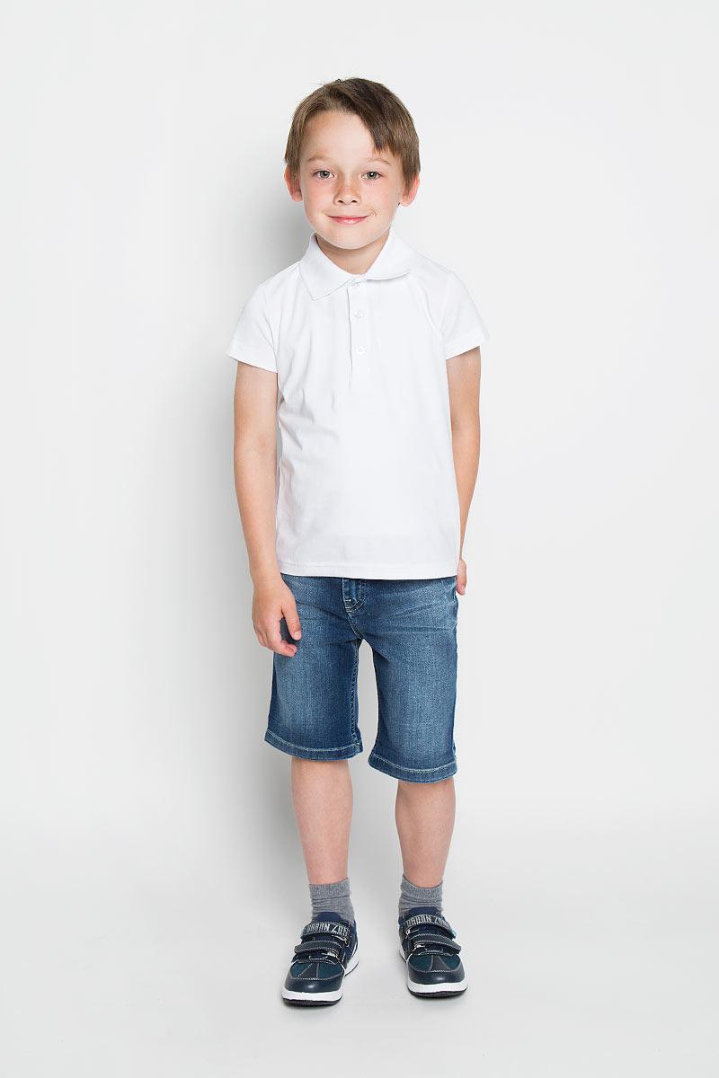 Футболка-поло для мальчика. 363047363047Футболка-поло для мальчика Scool станет стильным дополнением к детскому гардеробу. Изготовленная из эластичного хлопка, она мягкая, тактильно приятная, не сковывает движения и позволяет коже дышать, обеспечивая наибольший комфорт. Футболка-поло с отложным воротничком и короткими рукавами застегивается сверху на три пуговицы. Воротник выполнен из трикотажной резинки. Лаконичный дизайн и расцветка делают эту футболку стильным и модным предметом детской одежды. В ней ребенку будет удобно и комфортно!
