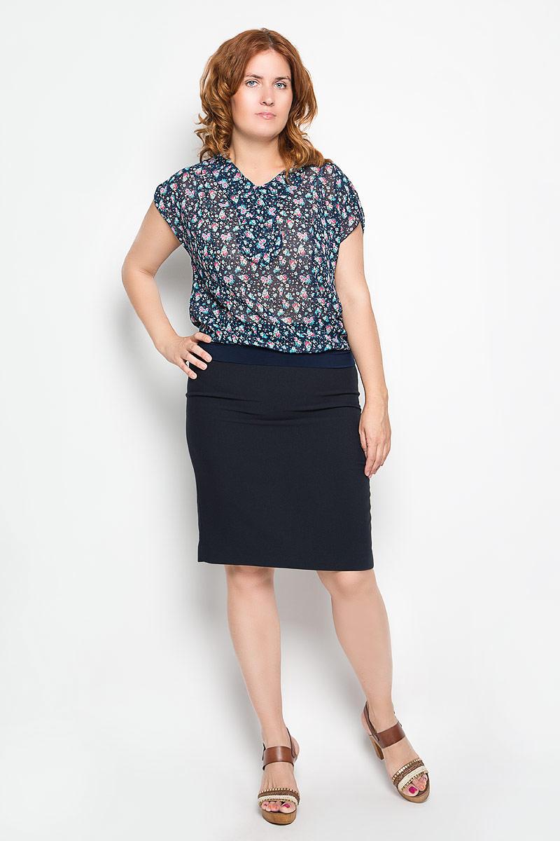 Блузка933мСтильная женская блузка Milana Style, выполненная из полиэстера с добавлением вискозы и лайкры, подчеркнет ваш уникальный стиль и поможет создать женственный образ. Модель c короткими цельнокроеными рукавами и воротником типа аскот. Низ рукавов дополнен небольшим хлястиком на пуговице. Низ изделия обработан эластичной манжетой. Блузка оформлена оригинальным и необычным рисунком. Такая блузка будет дарить вам комфорт в течение всего дня и послужит замечательным дополнением к вашему гардеробу.