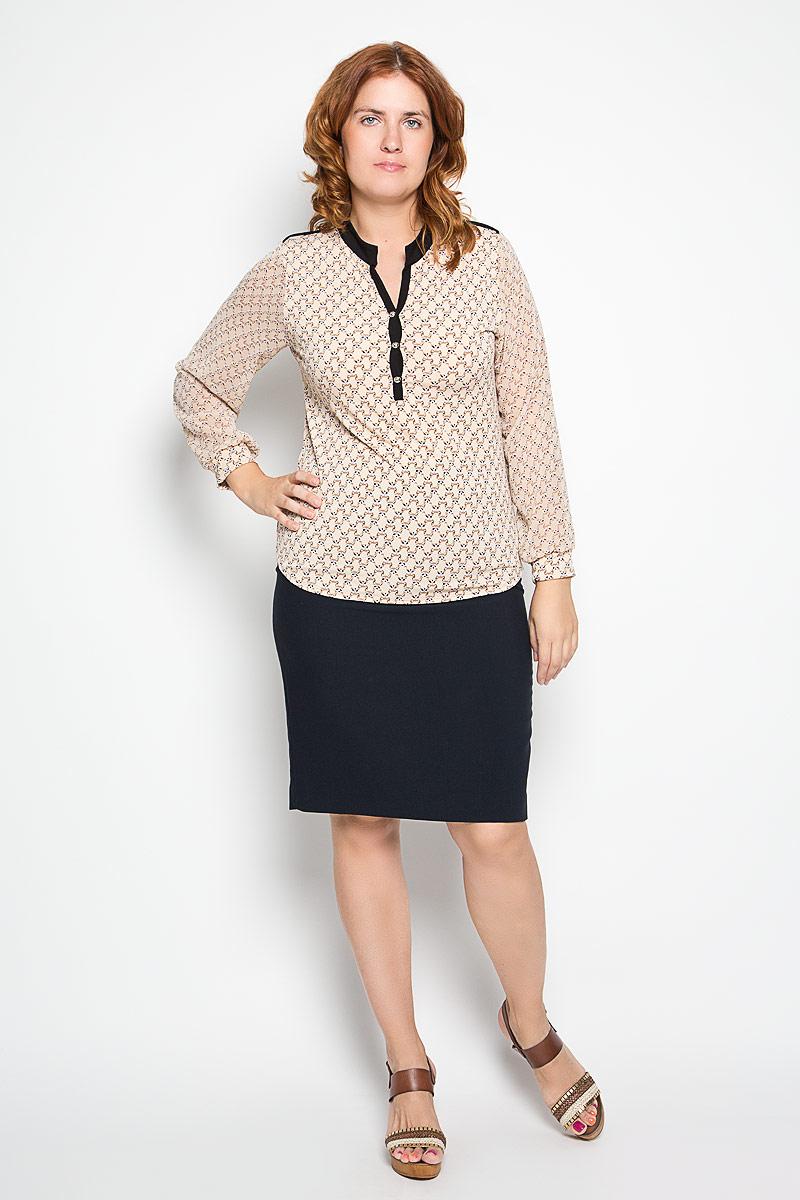 Блузка женская. 1605-624м1605-624мСтильная женская блуза Milana Style, выполненная из эластичного ПАН, подчеркнет ваш уникальный стиль и поможет создать оригинальный женственный образ. Блузка с длинными рукавами и V-образным вырезом горловины оформлена принтом в виде мордочек енотов. Модель застегивается на пуговицы на груди, рукава дополнены эластичными манжетами. Горловина отделана контрастной вставкой. Такая блузка идеально подойдет для жарких летних дней. Эта блузка будет дарить вам комфорт в течение всего дня и послужит замечательным дополнением к вашему гардеробу.