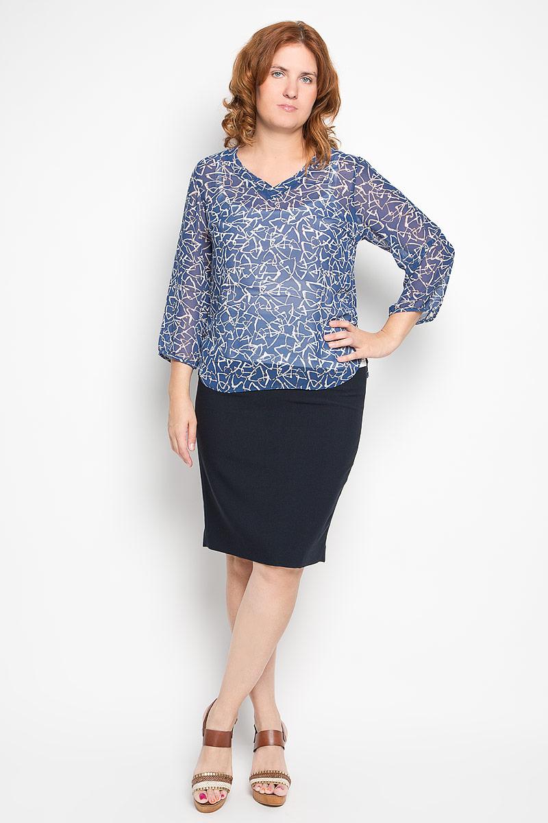 Блузка1862-623мСтильный женский твинсет Milana Style, выполненный из полупрозрачного высококачественного материала, будет отлично на вас смотреться. Модель свободного кроя представляет собой яркую майку на тонких бретельках, поверх которой надевается блуза, оформленная цветочным принтом. Блуза c V-образным вырезом горловины и рукавами 3/4 дополнена боковыми разрезами. Такой твинсет идеально подойдет для жарких летних дней. Этот твинсет будет дарить вам комфорт в течение всего дня и послужит замечательным дополнением к вашему гардеробу.