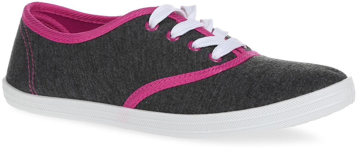 Кеды женские. BKW50026-06-17BKW50026-06-17Стильные женские кеды Bris покорят вас с первого взгляда! Модель выполнена из плотного текстиля и оформлена контрастной окантовкой и прострочкой. Классическая шнуровка обеспечивает надежную фиксацию обуви на ноге. Стелька и подкладка из текстиля гарантируют комфорт при движении. Прочная резиновая подошва с рельефным рисунком обеспечивает сцепление с любой поверхностью. Такие кеды займут достойное место в вашем гардеробе.