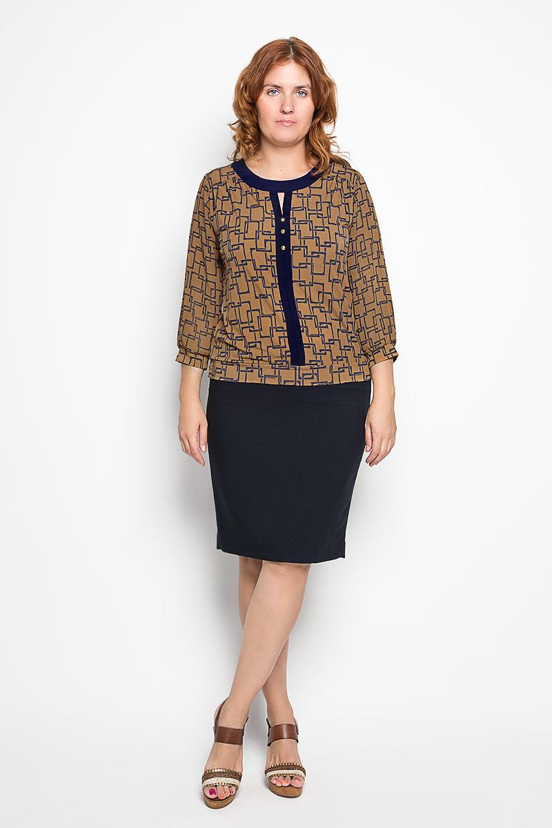 1541-723мСтильная женская блуза Milana Style, выполненная из эластичного полиамида, подчеркнет ваш уникальный стиль и поможет создать оригинальный женственный образ. Блузка с рукавами 3/4, круглым вырезом горловины оформлена оригинальным принтом и декоративной планкой с пуговицами. Рукава выполнены из полупрозрачного материала и дополнены эластичными манжетами. Такая блузка идеально подойдет для жарких летних дней. Эта блузка будет дарить вам комфорт в течение всего дня и послужит замечательным дополнением к вашему гардеробу.