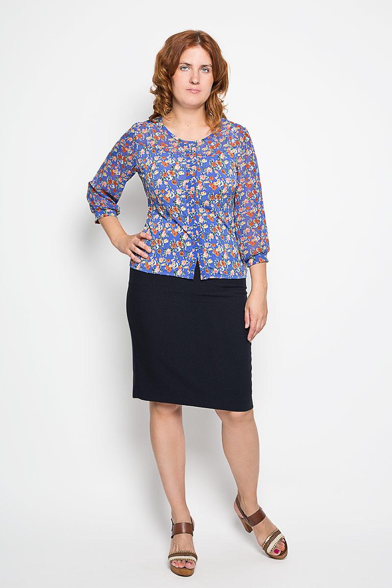 Блузка1889-723мСтильная женская блуза Milana Style, выполненная из эластичного полиамида, подчеркнет ваш уникальный стиль и поможет создать оригинальный женственный образ. Блузка с рукавами 3/4 и круглым вырезом горловины оформлена оригинальным цветочным принтом. Модель украшена декоративными пуговицами спереди, рукава дополнены эластичными манжетами. Такая блузка идеально подойдет для жарких летних дней. Эта блузка будет дарить вам комфорт в течение всего дня и послужит замечательным дополнением к вашему гардеробу.