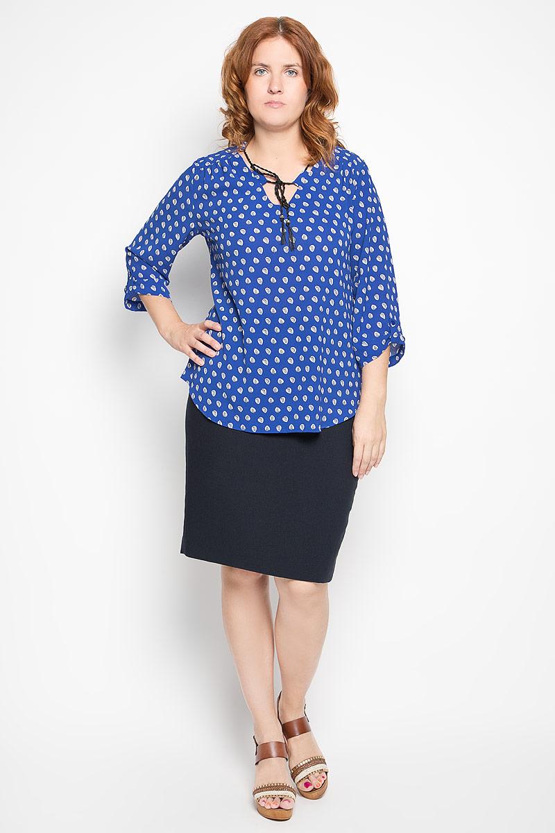 Блузка1906-753мСтильная женская блуза Milana Style, выполненная из эластичного полиамида, подчеркнет ваш уникальный стиль и поможет создать оригинальный женственный образ. Блузка с рукавами 3/4 и V-образным вырезом горловины оформлена контрастным принтом в виде листьев. Горловина блузки дополнена шнурком, который позволяет регулировать ее объем. Рукава оснащены хлястиками с пуговицами. Такая блузка идеально подойдет для жарких летних дней. Эта блузка будет дарить вам комфорт в течение всего дня и послужит замечательным дополнением к вашему гардеробу.