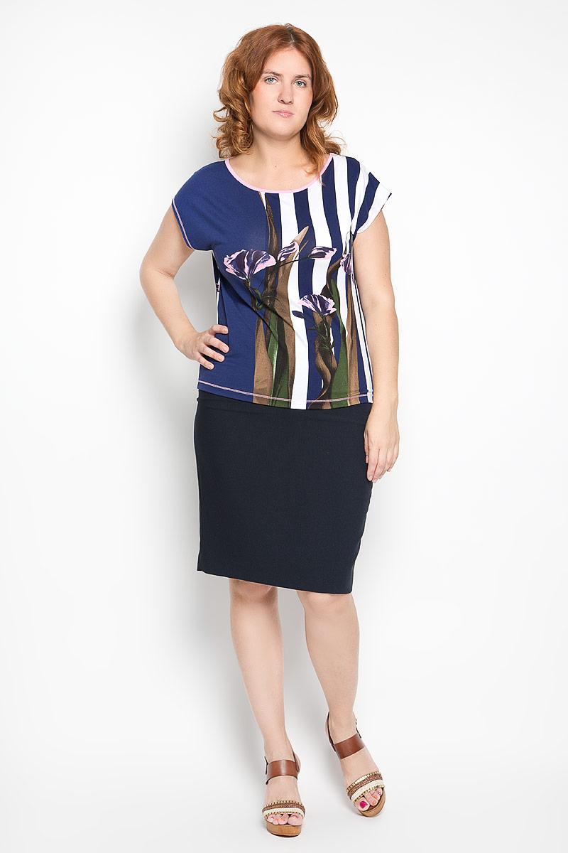 958-711мСтильная женская блузка Milana Style, выполненная из вискозы с добавлением эластана, подчеркнет ваш уникальный стиль и поможет создать женственный образ. Модель c круглым вырезом горловины и рукавами-кимоно. Горловина дополнена контрастной бейкой. Блуза оформлена оригинальным принтом. Такая блузка будет дарить вам комфорт в течение всего дня и послужит замечательным дополнением к вашему гардеробу.