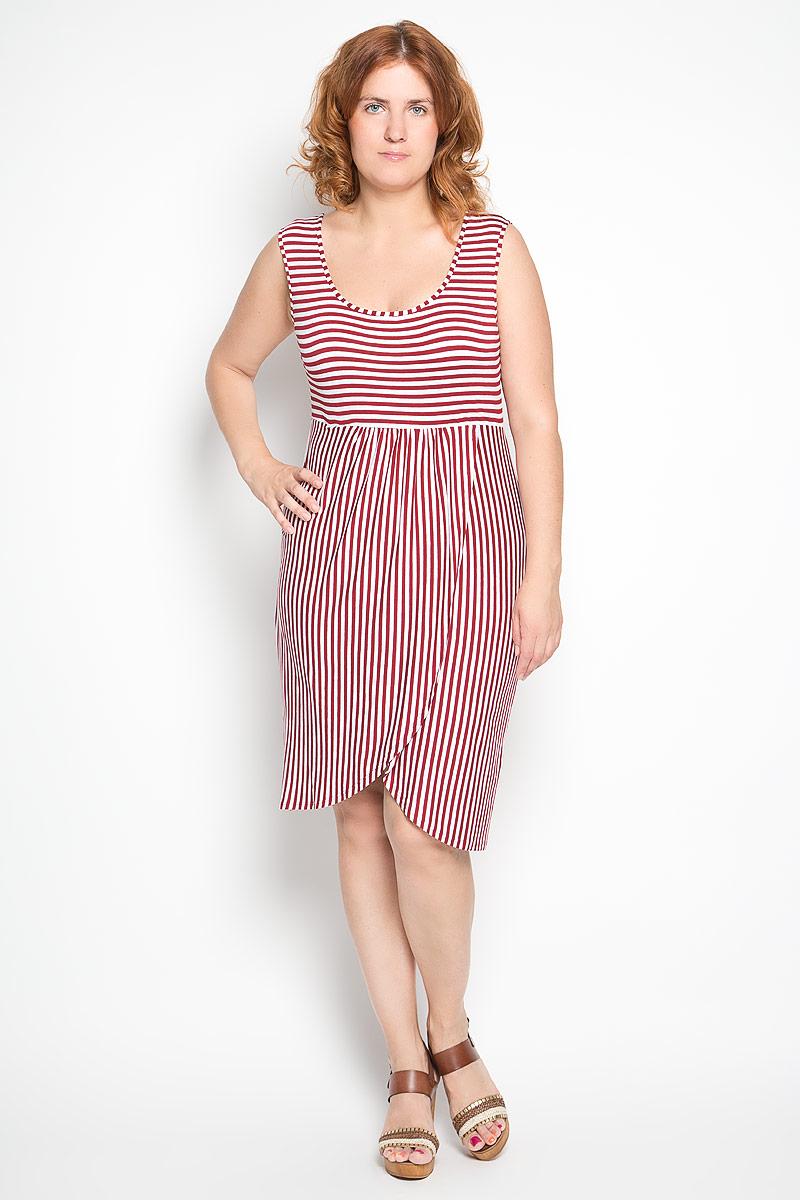 1487-710мЭлегантное платье Milana Style выполнено из высококачественной эластичной вискозы. Такое платье обеспечит вам комфорт и удобство при носке и непременно вызовет восхищение у окружающих. Модель-миди без рукавов и с круглым вырезом горловины выгодно подчеркнет все достоинства вашей фигуры. Платье с пришивной юбкой тюльпан оформлено принтом в полоску. Изысканное платье-миди создаст обворожительный и неповторимый образ. Это модное и удобное платье станет превосходным дополнением к вашему гардеробу, оно подарит вам удобство и поможет подчеркнуть свой вкус и неповторимый стиль.