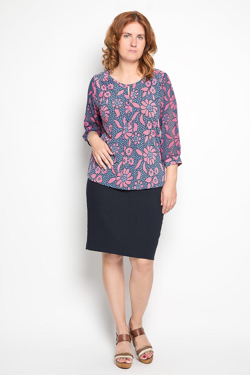 1611-723мСтильная женская блуза Milana Style, выполненная из эластичного полиамида, подчеркнет ваш уникальный стиль и поможет создать оригинальный женственный образ. Блузка с рукавами 3/4 и круглым вырезом горловины оформлена оригинальным крупным цветочным принтом. Рукава дополнены эластичными манжетами. Такая блузка идеально подойдет для жарких летних дней. Эта блузка будет дарить вам комфорт в течение всего дня и послужит замечательным дополнением к вашему гардеробу.