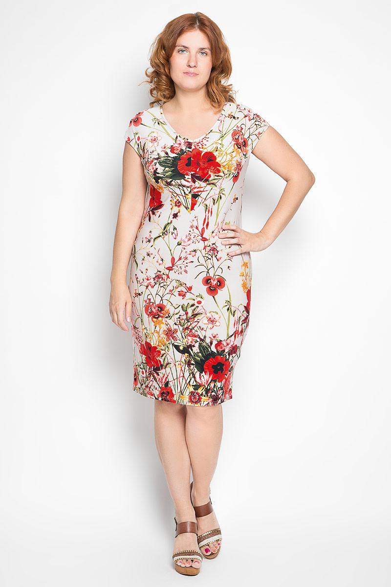 934мСтильное платье Milana Style станет модным дополнением к вашему летнему гардеробу. Выполненное из высококачественного материала, оно легкое и приятное на ощупь, не сковывает движений, хорошо вентилируется. Модель с V-образным вырезом горловины и короткими цельнокроеными рукавами оформлена ярким цветочным принтом. Эффектное платье поможет создать привлекательный образ, а также подарит вам комфорт.