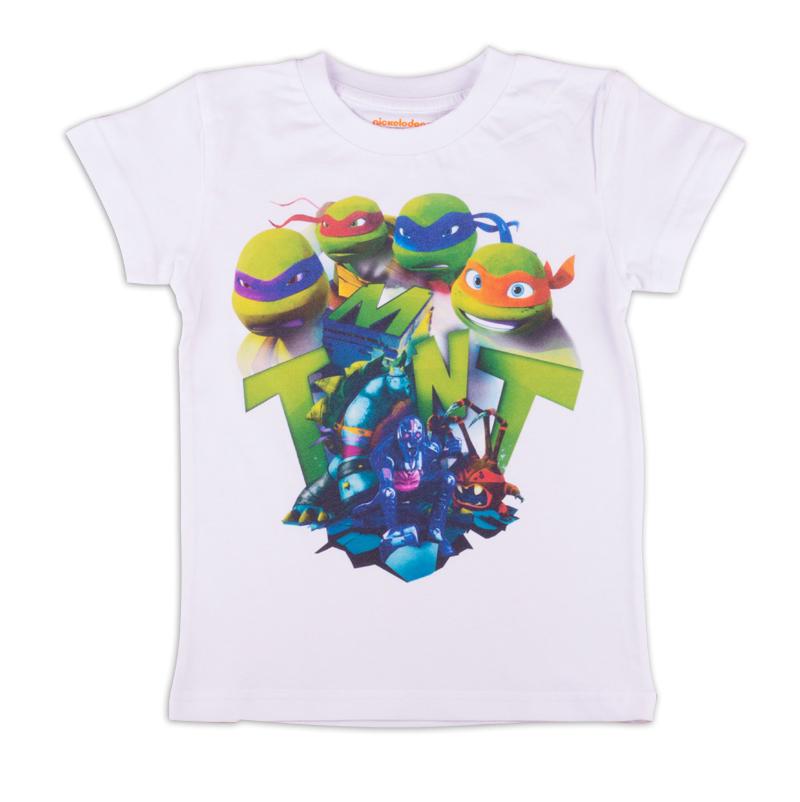 ZВ 02281-W1Удобная и комфортная в носке футболка с коротким рукавом с изображением мультипликационных героев Черепашек Ниндзя станет отличным дополнением к повседневному гардеробу мальчика.