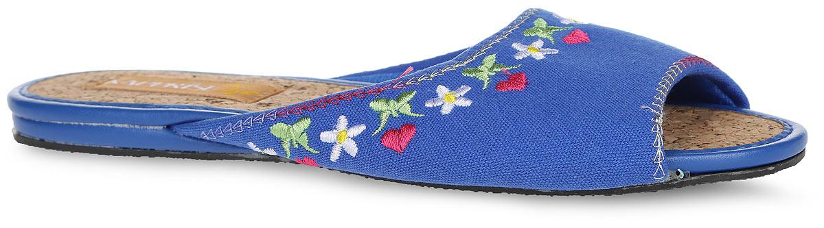 843-10 BWTУдобные женские тапки Кaprise, выполненные из плотного текстиля, помогут отдохнуть вашим ногам после трудового дня. Внешняя сторона тапочек оформлена контрастной вышивкой. Стелька из пробки обеспечит комфорт и подарит приятные ощущения! Подошва с рельефным протектором обеспечивает сцепление с любыми поверхностями.