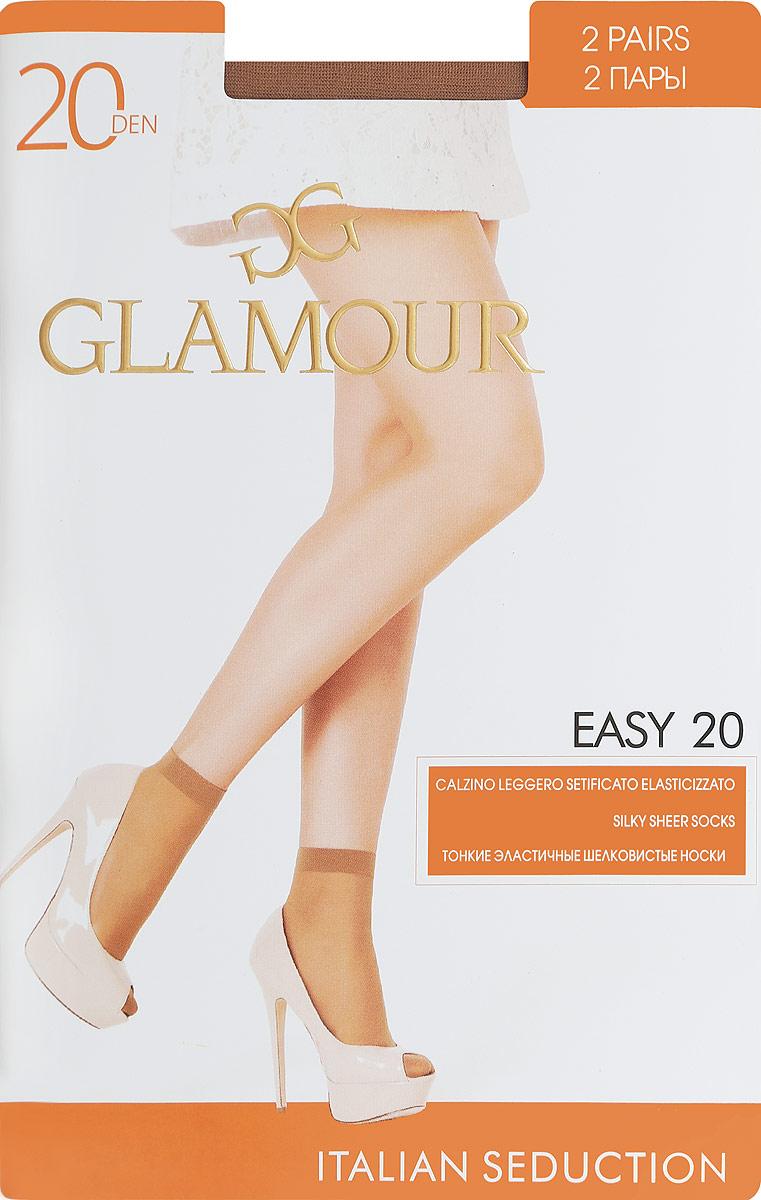 Носки женские Easy 20, 2 парыEasy 20Удобные женские носки Glamour Easy 20, изготовленные из высококачественного эластичного полиамида, идеально подойдут для повседневной носки. Входящий в состав материала полиамид обеспечивает износостойкость, а эластан позволяет носочкам легко тянуться, что делает их комфортными в носке. Эластичная резинка плотно облегает ногу, не сдавливая ее, обеспечивая комфорт и удобство и не препятствуя кровообращению. Практичные и комфортные носки с укрепленным мыском великолепно подойдут к любой открытой обуви. В комплект входят 2 пары носков. Плотность: 20 den.