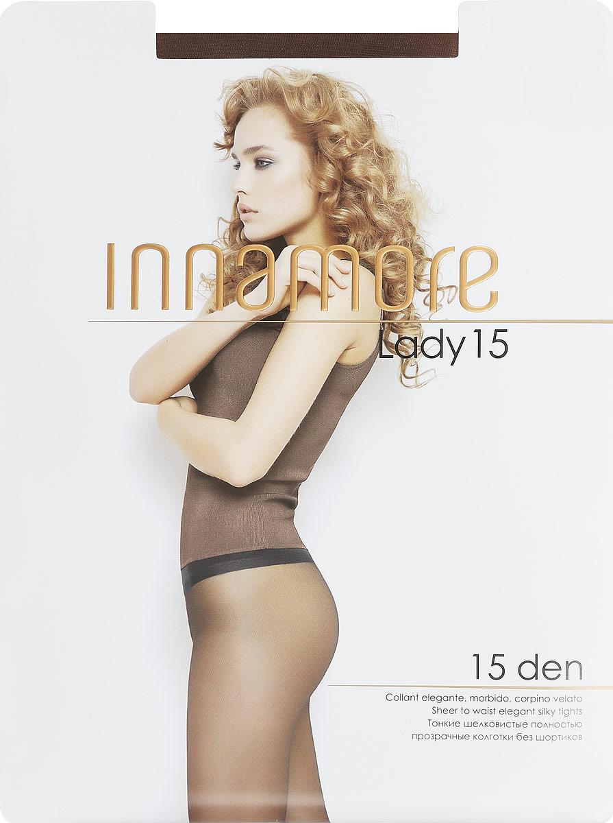 Колготки женские Lady 15. 1695416954Стильные классические колготки Innamore Lady 15, изготовленные из эластичного полиамида, идеально дополнят ваш образ и подчеркнут элегантность и стиль. Тонкие шелковистые колготки легко тянутся, что делает их комфортными в носке. Гладкие и мягкие на ощупь, они имеют анатомическую ластовицу, плоские швы, комфортный широкий пояс и укрепленный прозрачный мысок. Идеальное облегание и комфорт гарантированы при каждом движении. Плотность: 15 den.