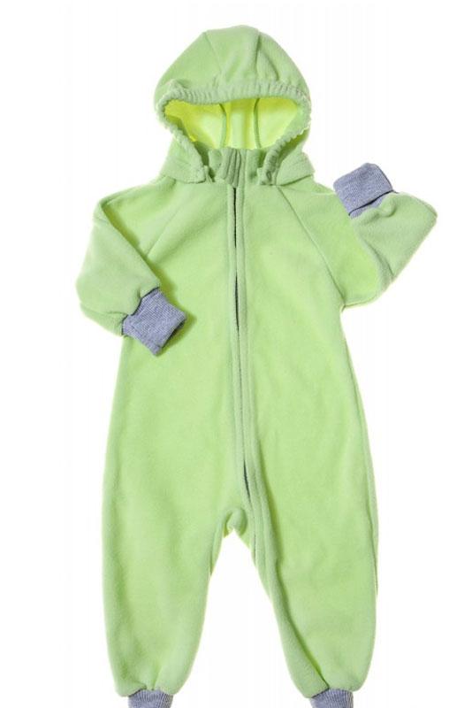 35220Универсальный детский комбинезон теплый и уютный. Капюшон на кнопках. Модель застегивается на молнию. Манжеты выполнены из трикотажа.