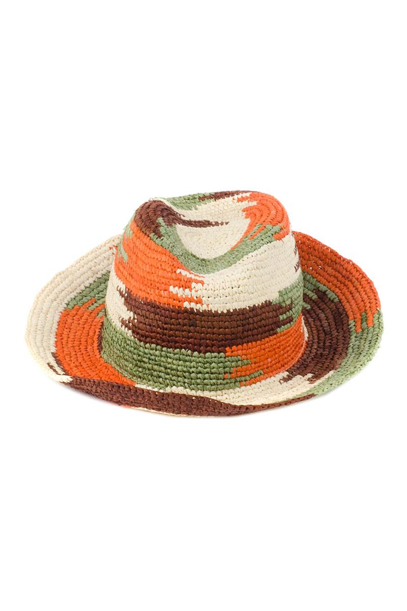 Шляпа8V-1608Стильная летняя шляпа Moltini, выполненная из 100% рафии, станет незаменимым аксессуаром для пляжа и отдыха на природе, и обеспечит надежную защиту головы от солнца. Плетение шляпы обеспечивает необходимую вентиляцию и комфорт даже в самый знойный день. Шляпа легко восстанавливает свою форму после сжатия.
