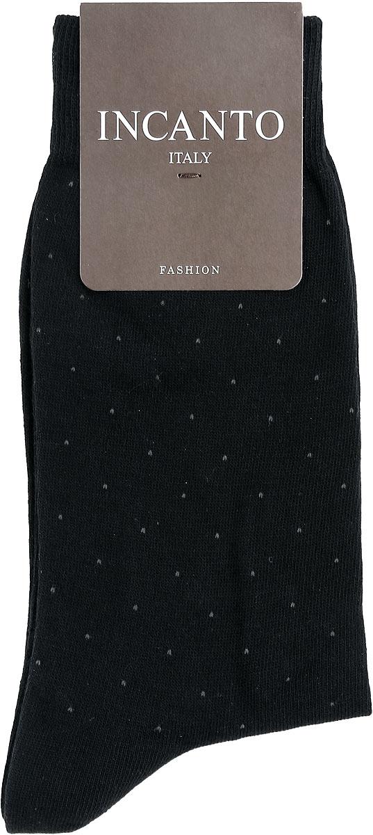 Носки мужские Fashion. BU733039BU733039Мужские носки Incanto Fashion изготовлены из хлопка с добавлением полиамида. Материал тактильно приятный, хорошо пропускает воздух. Носки дополнены комфортной эластичной резинкой. Усиленные пятка и мысок обеспечивают надежность и долговечность. Оформлено изделие принтом в мелкую точку. Удобные и прочные носки станут отличным дополнением к вашему гардеробу!