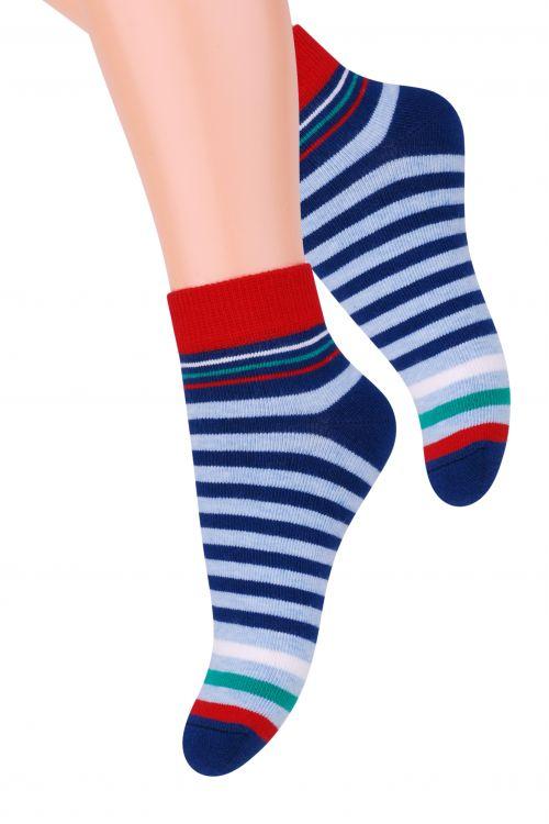 Носки004 (RC96)/004 (RB96)/004 (RA96)Хлопковые носки для мальчика Steven отлично подойдут для повседневной носки. Они изготовлены из высококачественного материала, очень мягкие на ощупь, не раздражают даже самую нежную и чувствительную кожу. Оформлено изделие цветными полосками. Такие носки послужат замечательным дополнением к детскому гардеробу!