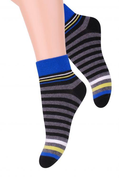 Носки004 (RA98)/004 (RC98)Хлопковые носки для мальчика Steven отлично подойдут для повседневной носки. Они изготовлены из высококачественного материала, очень мягкие на ощупь, не раздражают даже самую нежную и чувствительную кожу. Оформлено изделие цветными полосками. Такие носки послужат замечательным дополнением к детскому гардеробу!