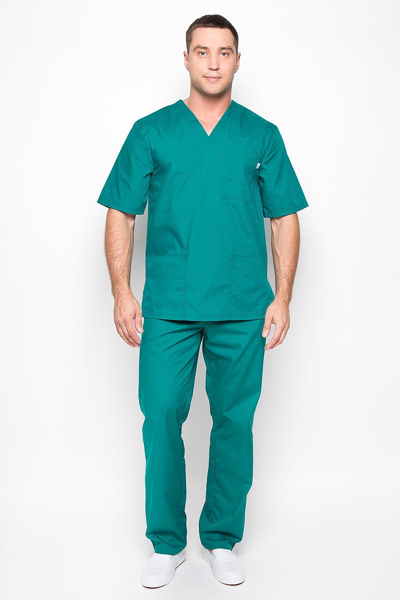 Блуза хирургическая мужская Вито. 03-108-0203-108-02-214Практичная мужская хирургическая блуза Med Fashion Lab Вито подчеркнет ваш профессионализм и уникальный стиль, и позволит комфортно чувствовать себя в любой момент. Блуза выполнена с учетом особенностей, связанных с работой медицинского персонала и сферы услуг. Блуза изготовлена из высококачественного хлопка с добавлением полиэфира, благодаря чему превосходно пропускает воздух, обладает высокой прочностью и износостойкостью. Хирургическая блуза с рукавами до локтя и V-образным вырезом горловины дополнена накладным нагрудным карманом, внутри которого расположен малый нагрудный кармашек, а также двумя открытыми накладными карманами снизу. Вместительные карманы позволят вам всегда держать под рукой самые необходимые вещи. Удобный и модный медицинская блуза станет великолепным дополнением гардероба любого специалиста. Стильный крой подчеркнет ваш вкус, а практичный материал подарит ощущение комфорта и уверенности.
