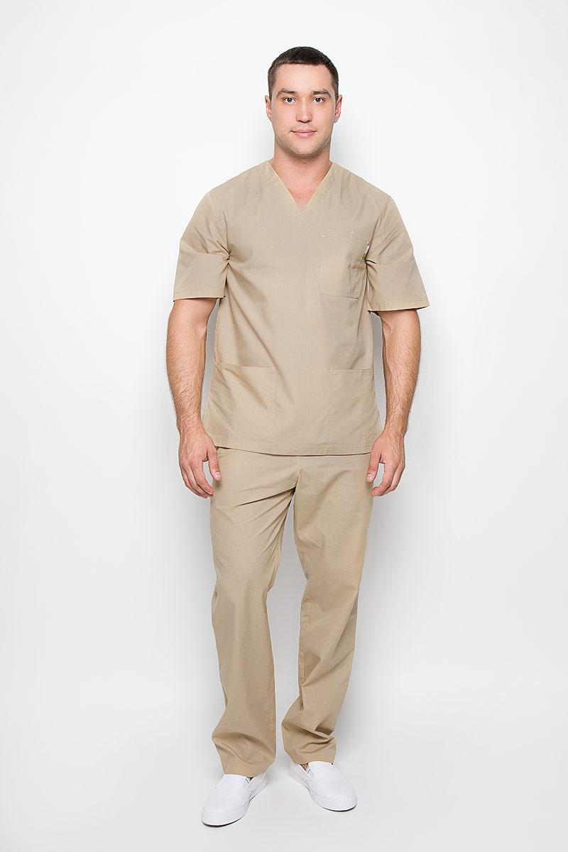Брюки медицинские мужские Хирург. 03-105-02-21403-105-02-214Стильные медицинские брюки Med Fashion Lab Хирург выполнены из легкой ткани с учетом индивидуальных особенностей работы медицинского персонала. Модель прямого кроя с поясом на эластичной резинке, с внутренней стороны имеется скрытый утягивающий шнурок. Спереди модель дополнена двумя втачными карманами, сзади одним накладным карманом. В таких брюках любой мужчина будет чувствовать себя комфортно в условиях интенсивной деятельности.