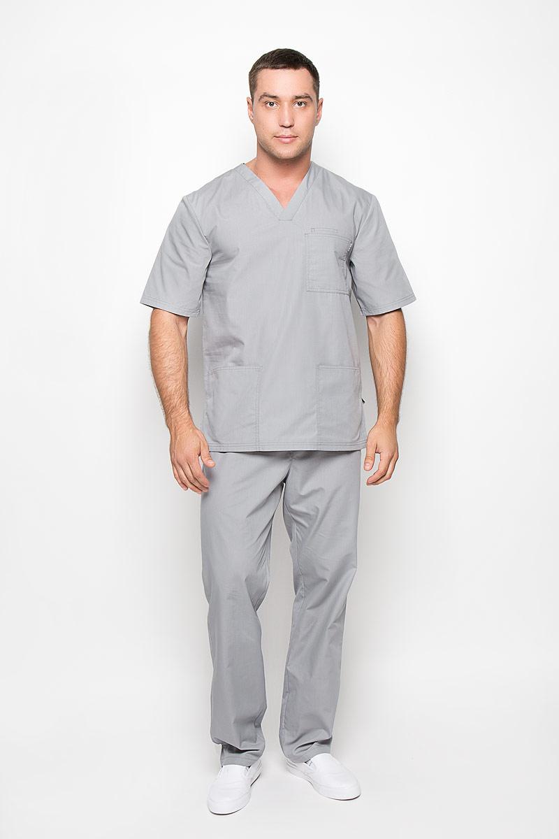 Блуза хирургическая мужская Вито. 03-108-0503-108-05-23Практичная мужская хирургическая блуза Med Fashion Lab Вито подчеркнет ваш профессионализм и уникальный стиль, и позволит комфортно чувствовать себя в любой момент. Блуза выполнена с учетом особенностей, связанных с работой медицинского персонала и сферы услуг. Блуза изготовлена из высококачественного полиэстера с добавлением хлопка, благодаря чему превосходно пропускает воздух, обладает высокой прочностью и износостойкостью. Хирургическая блуза с рукавами до локтя и V-образным вырезом горловины дополнена накладным нагрудным карманом, внутри которого расположен малый нагрудный кармашек, а также двумя открытыми накладными карманами снизу. Вместительные карманы позволят вам всегда держать под рукой самые необходимые вещи. Удобный и модный медицинская блуза станет великолепным дополнением гардероба любого специалиста. Стильный крой подчеркнет ваш вкус, а практичный материал подарит ощущение комфорта и уверенности.