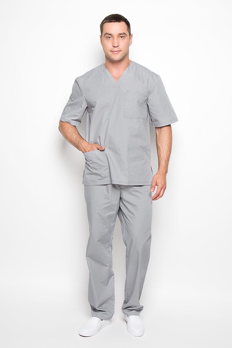 Брюки медицинские мужские Хирург. 03-105-05-2303-105-05-23Стильные медицинские брюки Med Fashion Lab Хирург выполнены из легкой ткани с учетом индивидуальных особенностей работы медицинского персонала. Модель прямого кроя с поясом на эластичной резинке, с внутренней стороны имеется скрытый утягивающий шнурок. Модель по бокам дополнена двумя втачными карманами, сзади одним накладным карманом. В таких брюках любой мужчина будет чувствовать себя комфортно в условиях интенсивной деятельности.
