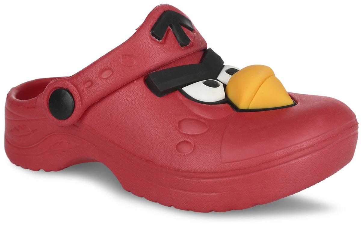 Сабо для девочки Angry Birds. AB450230AB450230Чудесные и очень легкие сабо от Mursu Angry Birds, выполненные полностью из ЭВА материала - это превосходный вид обуви для вашей малышки. Сабо в передней части украшены декоративными элементами в виде персонажа из знаменитой игры Angry Birds. Пяточный ремешок можно убирать вперед или носить на пятке. Рифление на внутренней поверхности подошвы предотвращает выскальзывание ноги. Рельефное основание подошвы обеспечивает уверенное сцепление с любой поверхностью и безопасность ребенка при ходьбе. Такие сабо подойдут для повседневного использования, в бассейне, дома или на отдыхе!