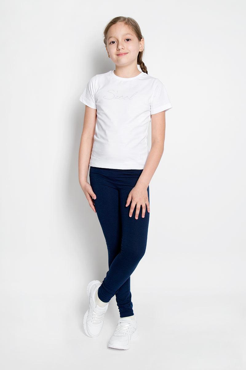 Леггинсы364086Леггинсы для девочки Scool станут отличным дополнением к детскому гардеробу. Изготовленные из эластичного материала, они мягкие и приятные на ощупь, не сковывают движения и позволяют коже дышать, не раздражают нежную кожу ребенка, обеспечивая наибольший комфорт. Модель на талии имеет широкую эластичную резинку, благодаря чему не сдавливает живот ребенка и не сползает. Такие леггинсы прекрасно подойдут как для повседневной носки, так и для занятий физкультурой, спортом, гимнастикой и танцами.