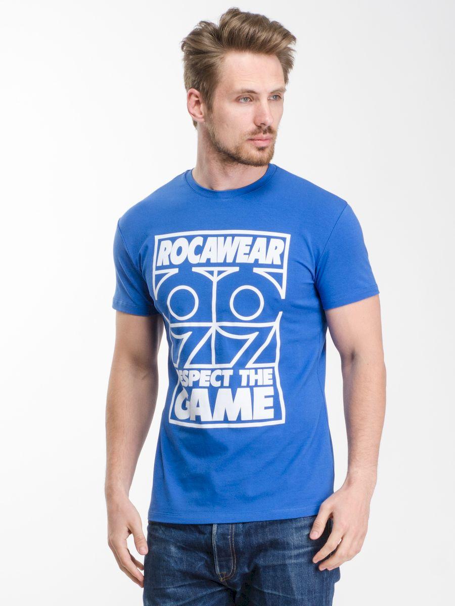 R0216Т12Мужская футболка Rocawear свободного кроя с круглым вырезом горловины и короткими рукавами изготовлена из эластичного хлопка. Спереди футболка декорирована контрастным принтом в виде надписи Rocawear 99 respect the game, который выгодно подчеркнет яркость и оригинальность вашего образа.
