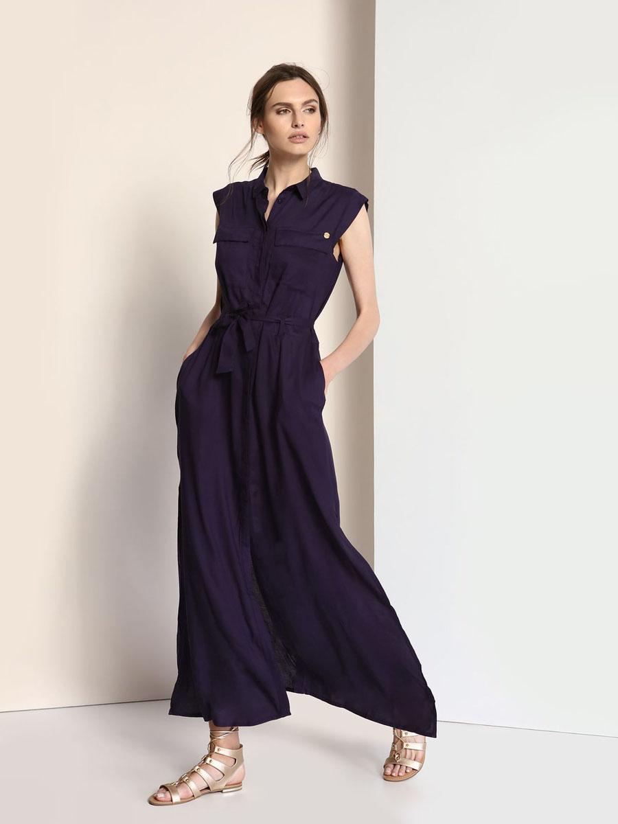 TSU0548GRЭлегантное платье Troll, изготовленное из высококачественной вискозы, оно приятное на ощупь, не раздражает кожу и хорошо вентилируется. Модель-макси с отложным воротником и рукавом- крылышко застегивается спереди по всей длине на пуговицы, закрытые защитной планкой. Верх платья оформлен накладными карманами с планками, пояс дополнен шлевками для ремня и небольшим трикотажным ремешком. Низ изделия оформлен большими разрезами.