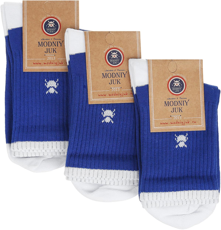 Socks 7Носки для мальчика Modniy Juk Sport, изготовленные из высококачественного материала, идеально подойдут маленькому непоседе. Мягкая и широкая резинка плотно облегает ножку, не сдавливая ее, благодаря чему ребенку будет комфортно и удобно. Усиленные пятка и мысок обеспечивают надежность и долговечность. В комплект входят три пары носочков, которые оформлены изображением жучка и принтовой надписью на английском языке.