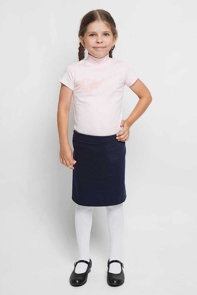 ВодолазкаAW5560A-5/AW5560B-5 AW5560A-10Водолазка для девочки M&D идеально подойдет вашей дочурке. Изготовленная из натурального хлопка, она необычайно мягкая и приятная на ощупь, не раздражает нежную кожу ребенка и хорошо вентилируется, а эластичные плоские швы приятны телу ребенка и не препятствуют его движениям. Водолазка с короткими рукавами и воротником-стойкой оформлена изображением оригинальной бабочки, декорированной стразами. Современный дизайн и расцветка делают эту водолазку модным и стильным предметом детского гардероба. В ней вашей маленькой моднице будет комфортно и уютно.