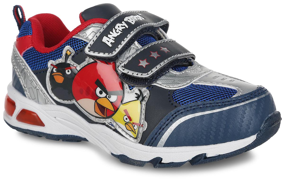 КроссовкиAB000298Стильные кроссовки Angry Birds от Mursu придутся по душе вашему мальчику. Модель, выполненная из искусственной кожи и текстиля, сбоку оформлена нашивкой из ПВХ с изображением героев мультфильма Angry Birds. Ремешки с застежками-липучками, оформленные изображением звезд и надписью Angry Birds, обеспечат надежную фиксацию модели на ноге. Внутренняя поверхность из текстиля не натирает. Стелька из ЭВА материала с текстильной поверхностью гарантирует комфорт при движении. Подошва с рифлением обеспечивает идеальное сцепление с любой поверхностью. При ходьбе в подошве мигают огоньки. Оригинальные кроссовки - незаменимая вещь в гардеробе каждого мальчика!