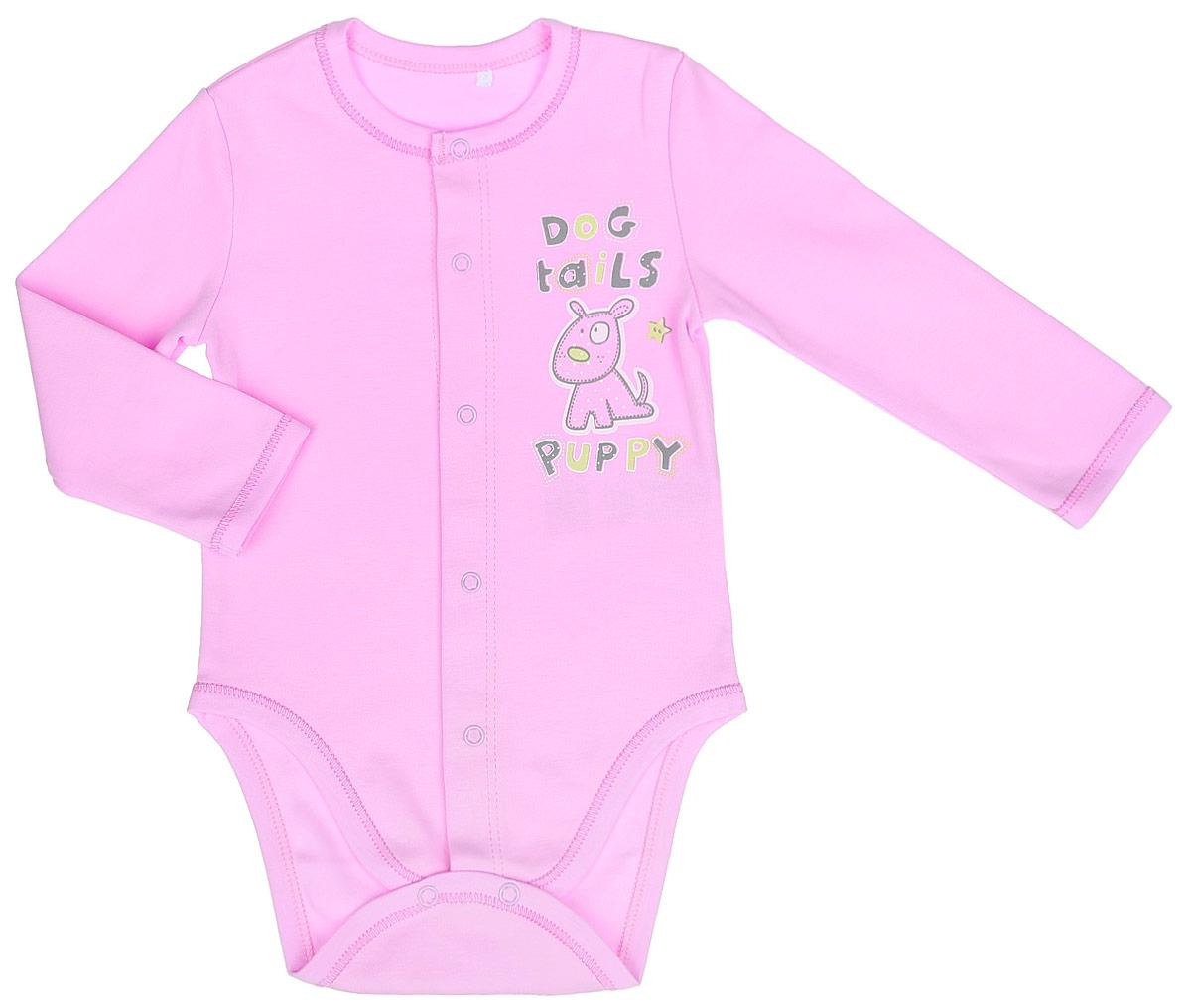 Боди детское. BD59ABD59A-10Детское боди БЕМБІ с длинными рукавами послужит идеальным дополнением к гардеробу малыша в более прохладное время года, обеспечивая ему наибольший комфорт. Изготовленное из интерлока - натурального хлопка, оно необычайно мягкое и легкое, не раздражает нежную кожу ребенка и хорошо вентилируется, а эластичные швы приятны телу малыша и не препятствуют его движениям. Удобные застежки-кнопки по всей длине и на ластовице помогают легко переодеть младенца или сменить подгузник. Спереди боди декорировано оригинальным принтом в виде забавного животного. Боди полностью соответствует особенностям жизни малыша в ранний период, не стесняя и не ограничивая его в движениях!