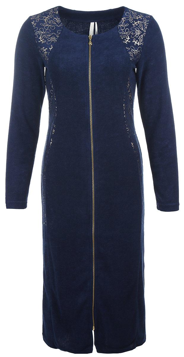 Платье. 4589545895Элегантное платье Relax Mode выполнено из 100% вискозы. Такое платье обеспечит вам комфорт и удобство при носке и непременно вызовет восхищение у окружающих. Модель-миди с рукавами длиной 7/8 и круглым вырезом горловины выгодно подчеркнет все достоинства вашей фигуры. Изделие застегивается на застежку-молнию спереди, оформлено оригинальным блестящим орнаментом. Изысканное платье-миди создаст обворожительный и неповторимый образ. Это модное и удобное платье станет превосходным дополнением к вашему гардеробу, оно подарит вам удобство и поможет подчеркнуть ваш вкус и неповторимый стиль.
