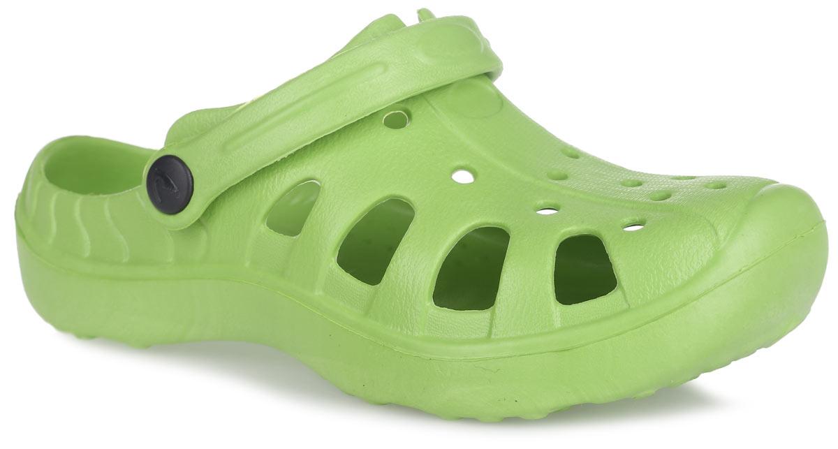 Сабо детские. BQK00024BQK00024-13Прелестные сабо от Bris придутся по душе вашему ребенку. Модель полностью изготовлена из материала ЭВА, благодаря которому обувь невероятно легкая и удобная, она легко моется и быстро сохнет. Верх модели оформлен перфорацией, которая обеспечивает естественную вентиляцию. Пяточный ремешок предназначен для фиксации стопы при ходьбе. Рифление на подошве гарантирует идеальное сцепление с любой поверхностью. Такие сабо - отличное решение для каждодневного использования в жаркую погоду.