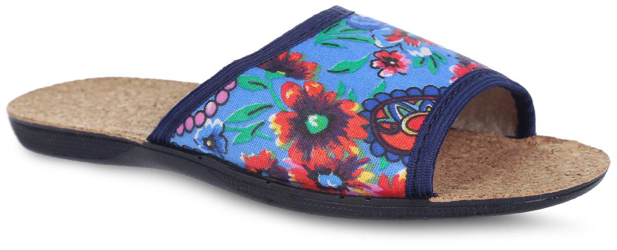 Тапки для девочки. BTK70507-50-36PBTK70507-50-36PЛегкие домашние тапки с открытым носком от Bris придутся по душе вашей девочке! Верх модели, выполненный из текстиля, оформлен цветочным принтом. Подкладка из текстиля и стелька из пробки комфортны при движении. Рифление на подошве обеспечивает идеальное сцепление с любой поверхностью. Чудесные тапки подарят чувство уюта и комфорта.