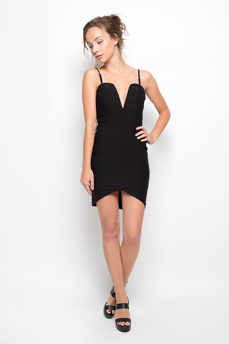 ПлатьеCK1726 BlackЭлегантное платье Glamorous, выполненное из плотного трикотажа, преподносит все достоинства женской фигуры в наиболее выгодном свете. Модель с регулируемыми по длине бретелями на спинке застегивается на скрытую застежку-молнию. Передняя часть лифа дополнена плотной вставкой, что позволяет носить платье без бюстгальтера. Низ платья спереди дополнен имитацией запаха. Благодаря свойствам используемого материала изделие практически не сминается. В таком наряде вы безусловно привлечете восхищенные взгляды окружающих. Это яркое платье станет отличным дополнением к вашему гардеробу!