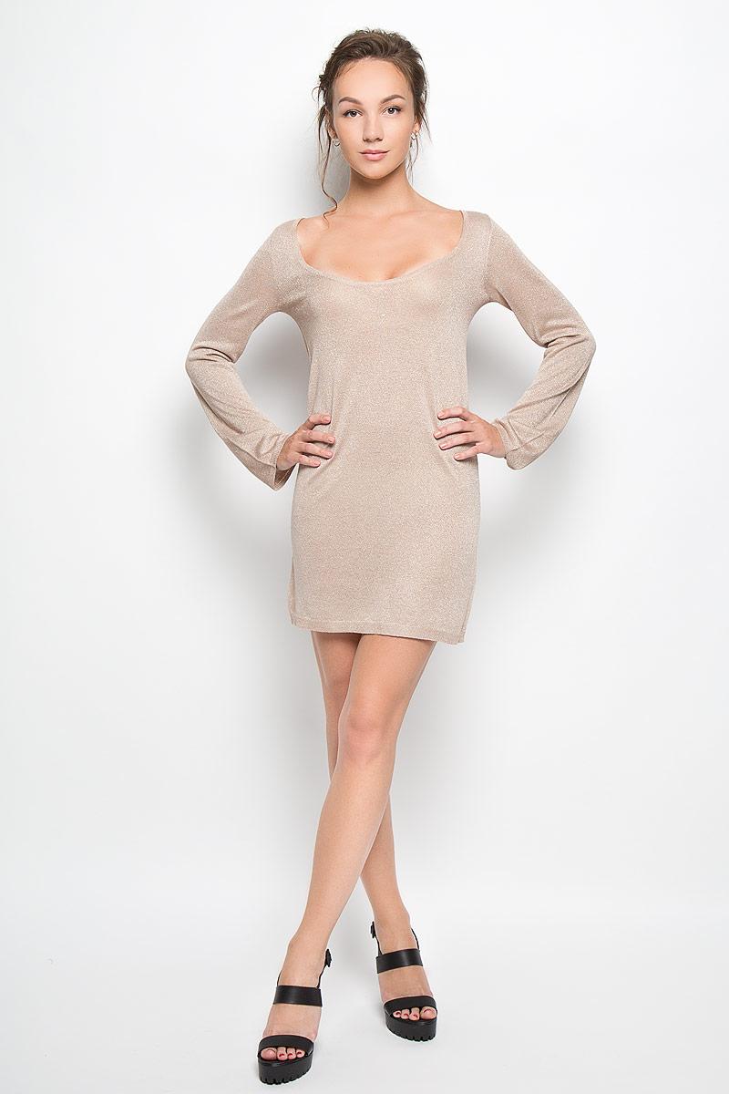 Платье. AN1904AN1904 STONE LUREXРомантичное платье Glamorous, выполненное из высококачественной вискозы с люрексом, преподносит все достоинства женской фигуры в наиболее выгодном свете. Модель свободного кроя с глубоким круглым вырезом горловины и длинными рукавами. Это стильное платье станет отличным дополнением к вашему гардеробу!