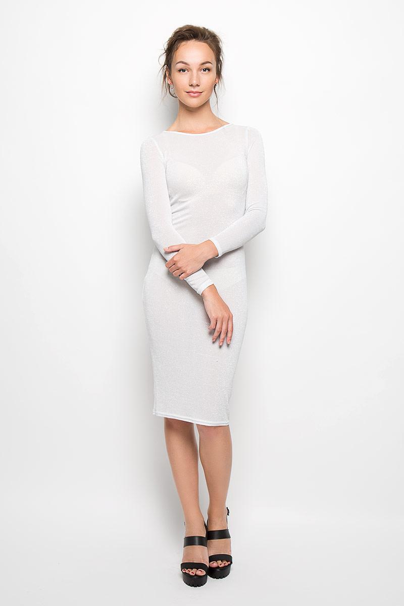 ПлатьеAN0212A SILVER LUREXЭлегантное и невероятно легкое платье Glamorous, выполненное из высококачественной полиэстера, преподносит все достоинства женской фигуры в наиболее выгодном свете. Модель облегающего кроя с круглым вырезом горловины и длинными рукавами застегивается по спинке на металлическую застежку-молнию. Это стильное платье станет отличным дополнением к вашему гардеробу!