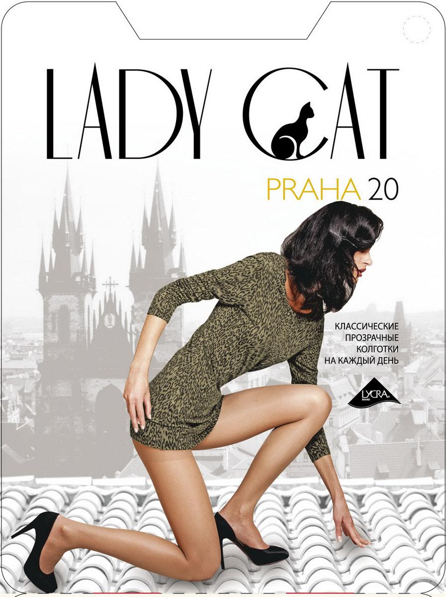 Колготки жен. Praha 20Praha 20Элегантные прозрачные колготки с лайкрой, с усиленным торсом и уплотненным мыском, один задний шов.