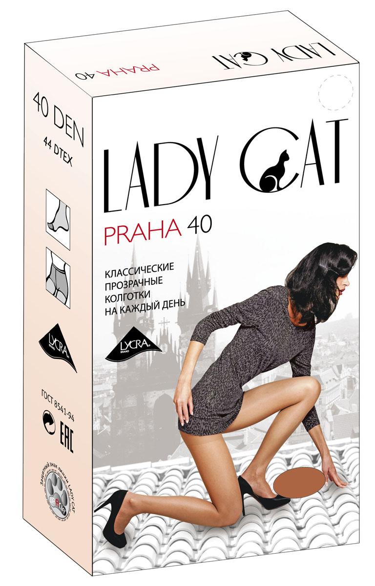 Колготки жен. Praha 40 boxPraha 40 boxЭлегантные прозрачные колготки с лайкрой, с усиленным торсом и уплотненным мыском, один задний шов.