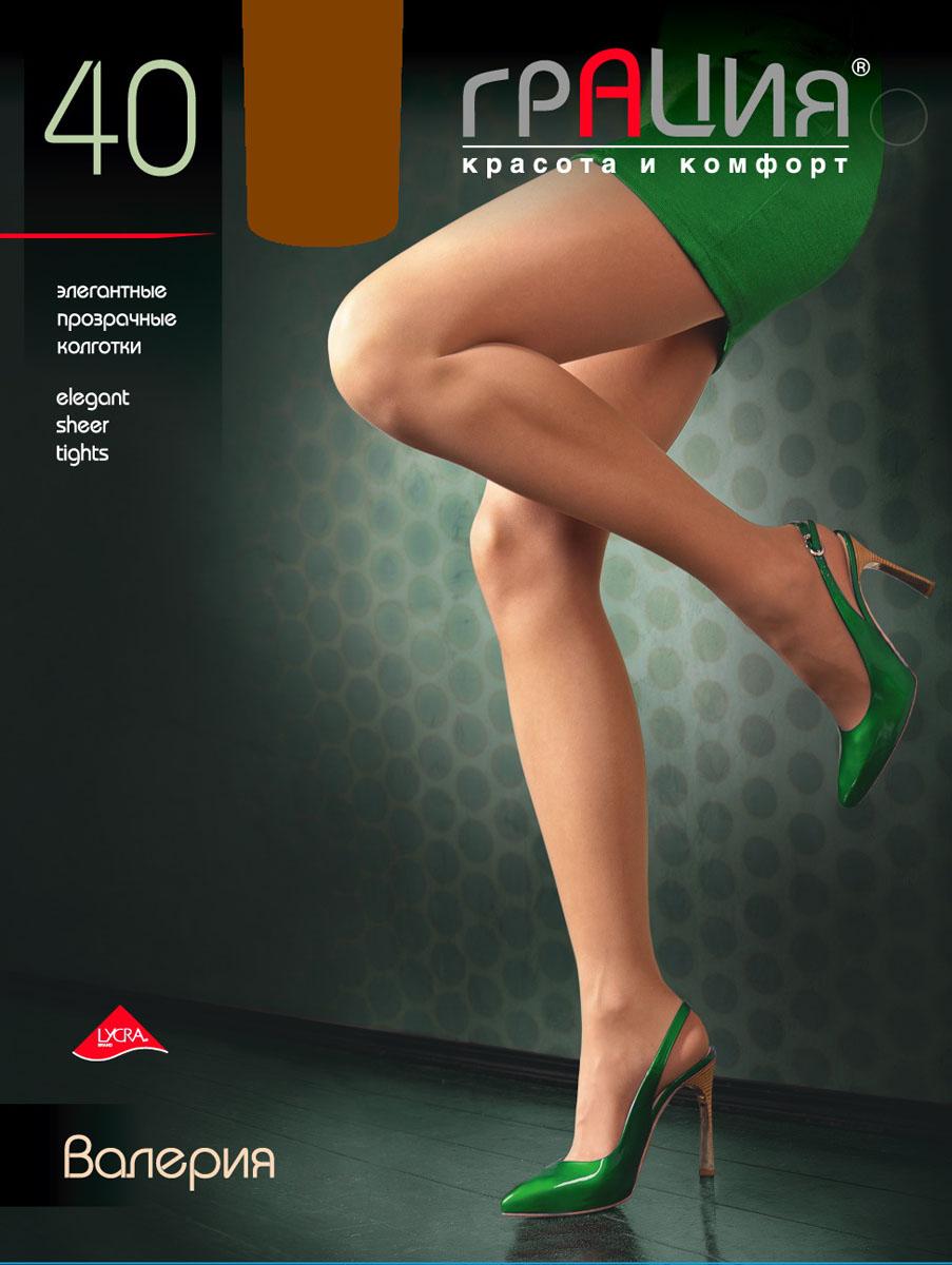 Колготки женские Валерия 40Валерия 40Стильные колготки Грация Валерия 40, изготовленные из эластичного полиамида, идеально дополнят ваш образ и подчеркнут элегантность и стиль. Колготки комфортно облегают и создают приятное ощущение подтянутости. Прозрачные шелковистые колготки легко тянутся, что делает их комфортными в носке. Гладкие и мягкие на ощупь, они имеют комфортный широкий пояс, усиленный торс и хлопковую гигиеническую ластовицу. Равномерное распределение давления по ноге обеспечит неповторимое ощущение удобства. Идеальное облегание и комфорт гарантированы при каждом движении. Плотность: 40 den.