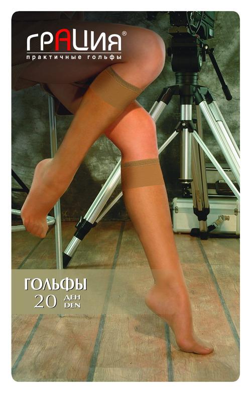 Гольфы жен. Гольфы 20 лайкраГольфы 20 лайкраГольфы повышенной комфортности за счет содержания эластана, мягкие и шелковистые, с широкой резинкой и усиленным мыском. 2 пары в упаковке.