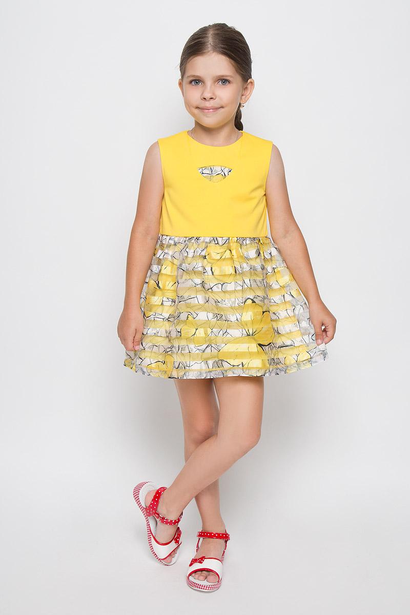 ПлатьеSSP1640-2Яркое платье для девочки Nota Bene идеально подойдет вашей маленькой моднице. Верх платья выполнен из мягкой эластичной ткани, юбка - из легкой полупрозрачной. На модели предусмотрена подкладка, изготовленная из натурального хлопка. Платье не стесняет движений и хорошо вентилируется. Платье с круглым вырезом горловины застегивается по спинке на скрытую молнию, что помогает при переодевании ребенка. От линии талии заложены складочки, придающие изделию воздушность и пышность. Изделие оформлено принтом в полоску и украшено ярким изображением бабочек. В таком платье ваша маленькая принцесса будет чувствовать себя комфортно, уютно и всегда будет в центре внимания!
