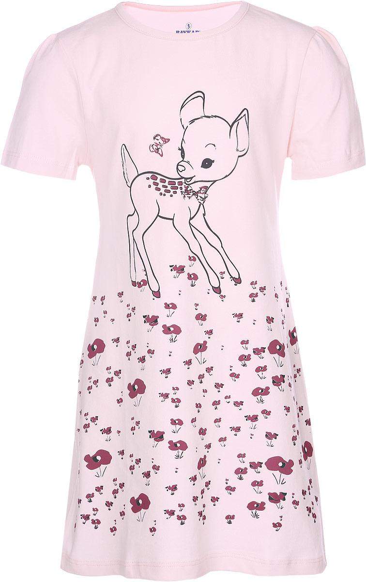 Ночная сорочка для девочки. N90412N9041216-22/N9041216A-22Ночная сорочка для девочки Baykar станет идеальным дополнением к детскому гардеробу. Изготовленная из эластичного хлопка, она необычайно мягкая и приятная на ощупь, не сковывает движения и позволяет коже дышать, обеспечивая комфорт. Сорочка с круглым вырезом горловины и короткими рукавами-фонариками имеет трапециевидный крой. Модель оформлена цветочным принтом и изображением олененка. В такой сорочке ваша маленькая принцесса будет чувствовать себя комфортно и уютно во время сна.