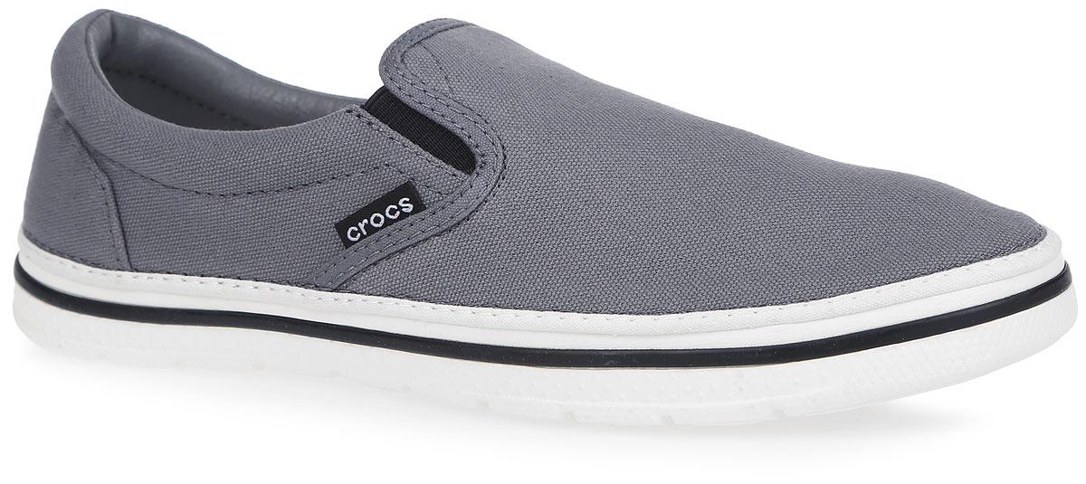Слипоны мужские Norlin Slip-on. 201084201084-04OМодные слипоны Norlin Slip-on от Crocs заинтересуют вас своим дизайном с первого взгляда! Модель, изготовленная из плотного текстиля, сбоку оформлена нашивкой с названием бренда. Эластичные вставки по бокам обеспечивают идеальную посадку модели на ноге. Стелька из материала EVA с текстильной вставкой обеспечивает максимальный комфорт при движении. Внутренняя поверхность из текстиля и искусственной кожи не натирает. Подошва из материала Croslite очень легкая и гибкая. Рифление на подошве гарантирует идеальное сцепление с поверхностью. Стильные слипоны займут достойное место в вашем гардеробе.