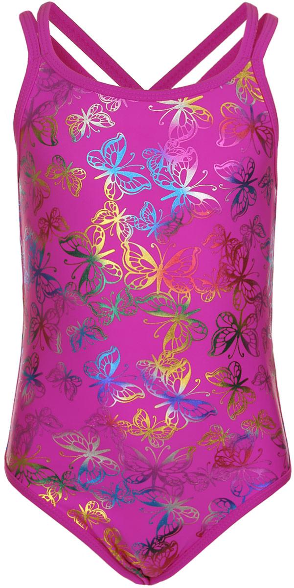 Купальник для девочки. GSS-17GSS-17Слитный купальник для девочки Lowry изготовлен из полиамида и эластана, благодаря чему позволяет коже ребенка дышать, быстро сохнет и сохраняет первоначальный вид и форму даже при длительном использовании. Он комфортен в носке, даже когда ребенок мокрый. Модель на тонких, перекрещивающихся сзади бретельках. Купальник оформлен оригинальным орнаментом. Такой купальник, несомненно, понравится даже самой маленькой моднице.