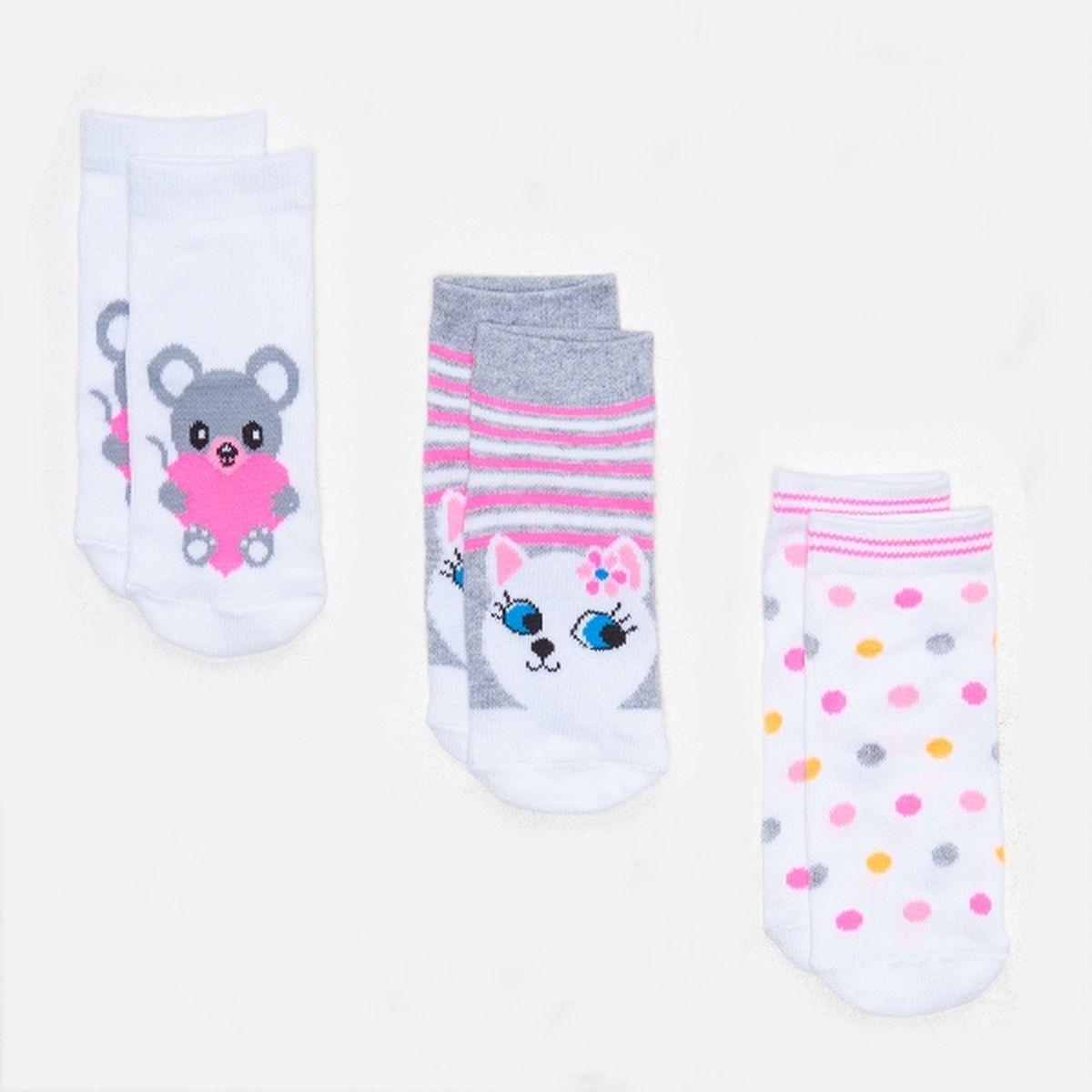 Носки для девочек Lilo, 3 шт. 3222442001332224420013_4400
